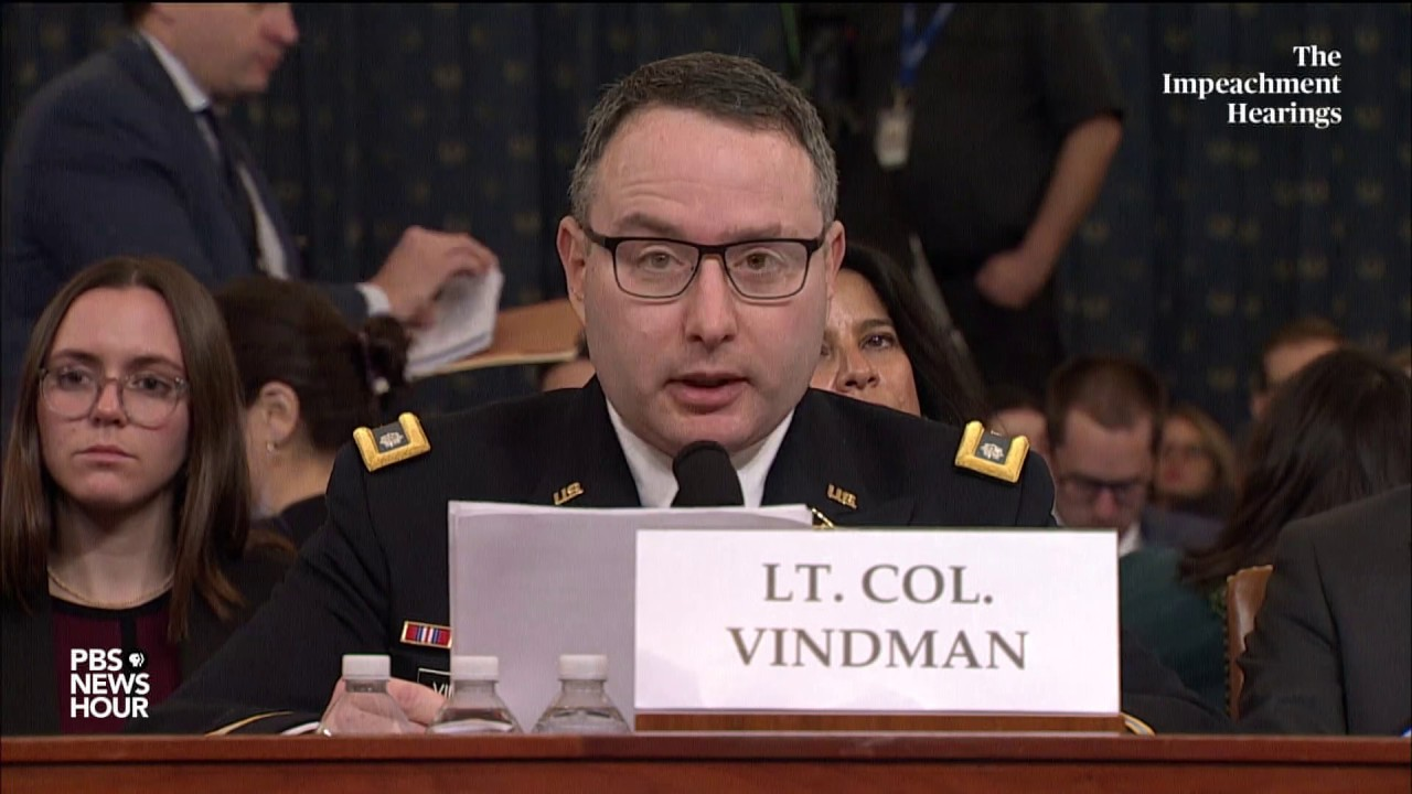Soldiers Call Out Lt. Col. Vindman for Secretly Advising Ukrainians to Ignore U.S. President - Tedium Media