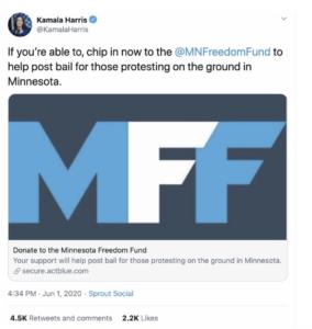 kamala harris minnesota freedom fund